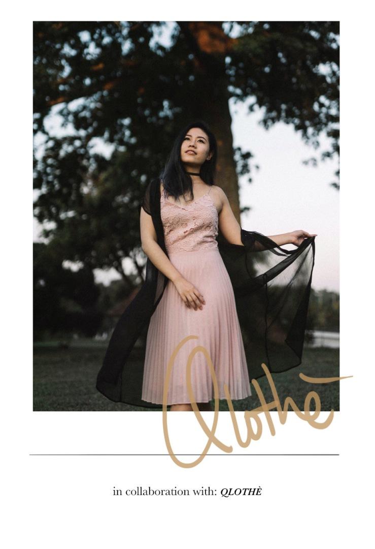 Jeanne lace strap dress qlothe