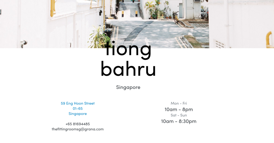 GRANA.COM Singapore Pop up Address Tiong Bahru